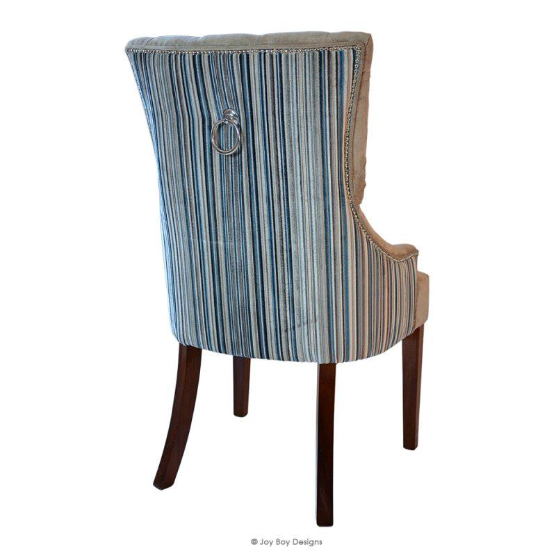 chevron dining chair rear